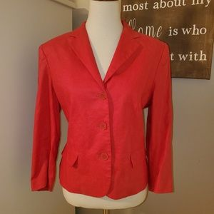 Red Linen Blazer